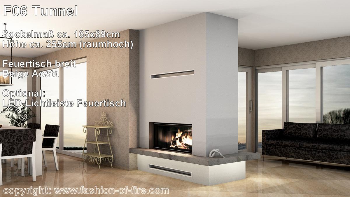 fashion of fire f06 tunnelkamin mit brunner kamin und naturstein. Black Bedroom Furniture Sets. Home Design Ideas