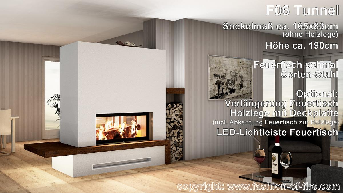 fashion of fire f06 tunnelkamin mit brunner kamin und. Black Bedroom Furniture Sets. Home Design Ideas